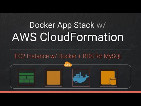 Create AWS CloudFormation Stack for EC2 & RDS and Deploy Docker App