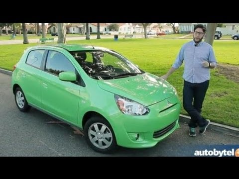 2014 Mitsubishi Mirage Test Drive Video Review - 3-Cylinder Sub-Compact Car
