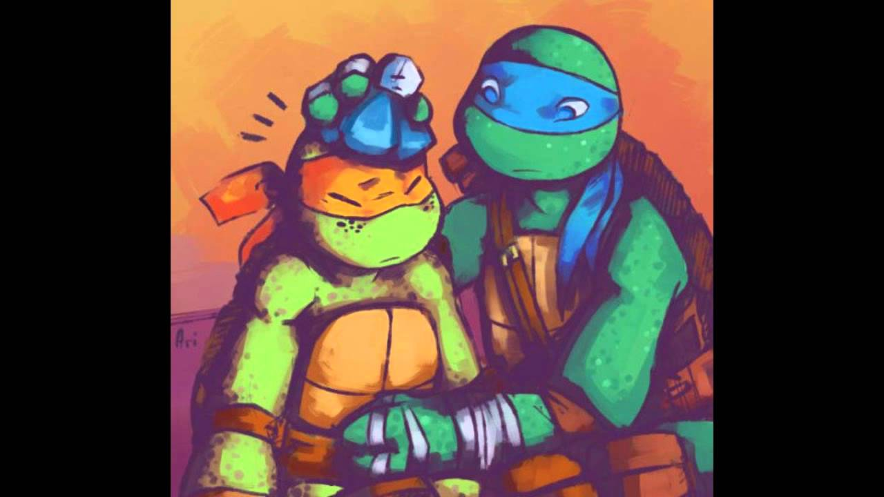 tmnt 2012 leo and mikey
