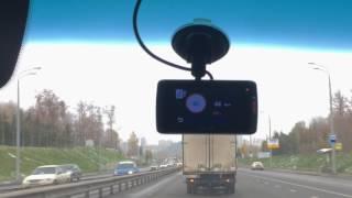 Пример работы оповещений о радарах видеорегистратора Mio MiVue 688