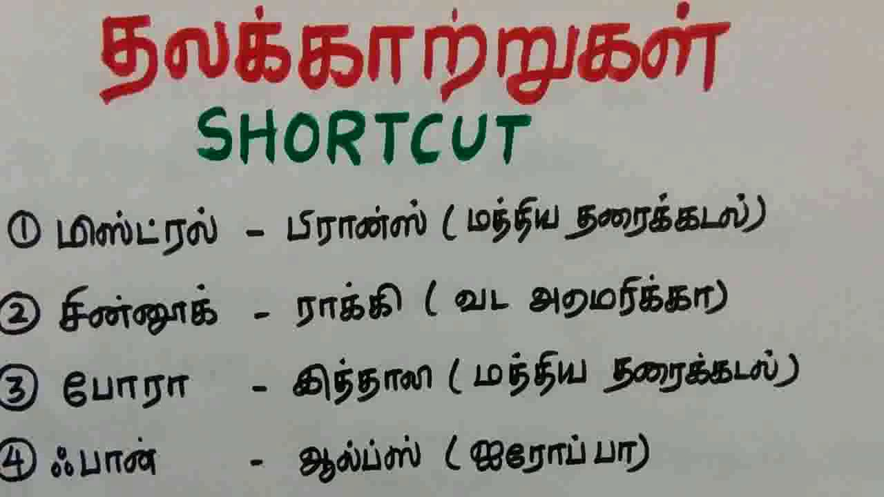 Tnpsc Geography shortcuts-IJK knowledge world