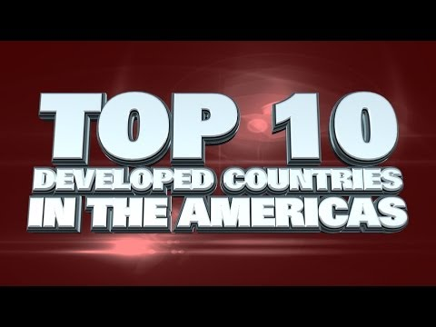Top 10 Most Developed Countries In The Americas 2014