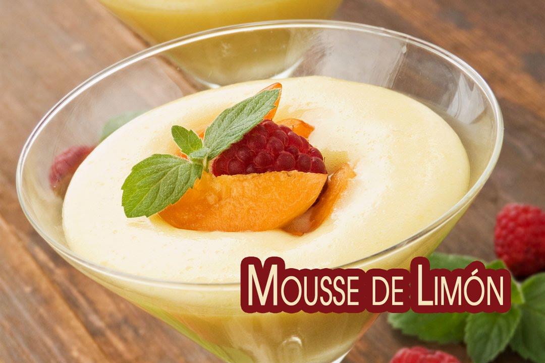 Mousse de Limon Natural o Helado Rápido con Crema de Limon