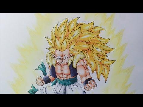 Drawing Adult Gotenks Super Saiyan 3 Ssj3 Youtube