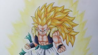Drawing Adult Gotenks Super Saiyan 3 | SSJ3