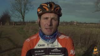 Johnny Hoogerland fietst de Tour