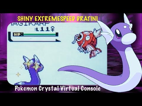 LIVE!! Shiny ExtremeSpeed Dratini In Crystal Virtual Console After 714 SRs