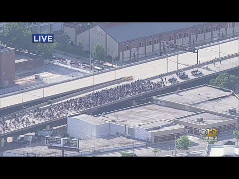 George Floyd Death: Protesters Close Interstate 83 In Downtown Baltimore