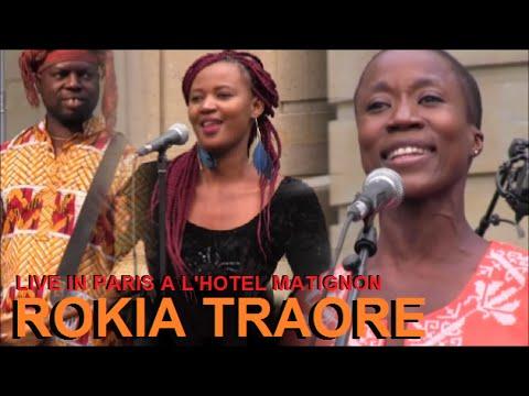 ROKIA TRAORE LIVE IN PARIS A L'HOTEL MATIGNON POUR LA 35eme FETE DE LA MUSIQUE LE 21 JUIN 2016