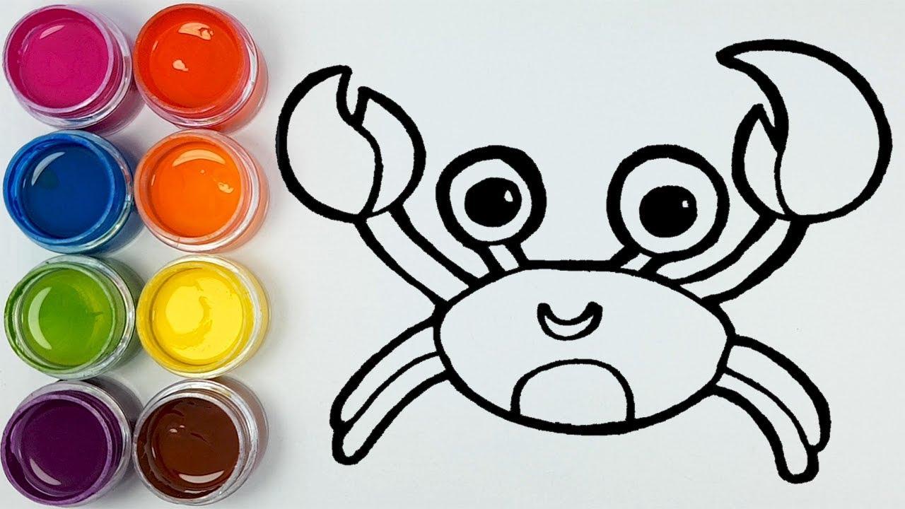 Kepiting Laut Belajar Menggambar Dan Mewarnai Untuk Anak