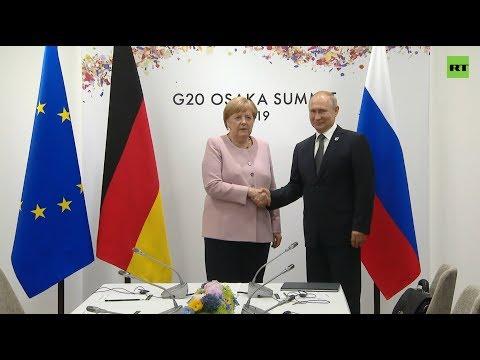 Путин встретился с Меркель на полях саммита G20