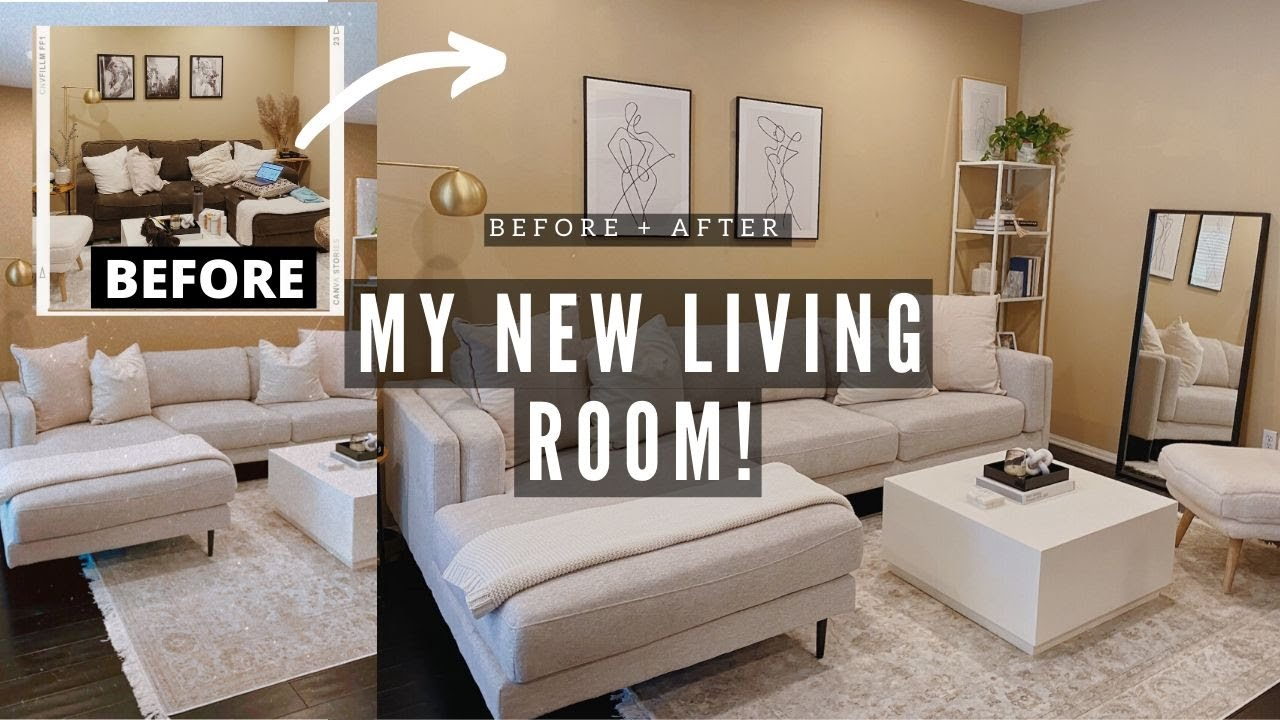 I TRANSFORMED MY LIVING ROOM! MODERN CONTEMPORARY | NICOLE ELISE
