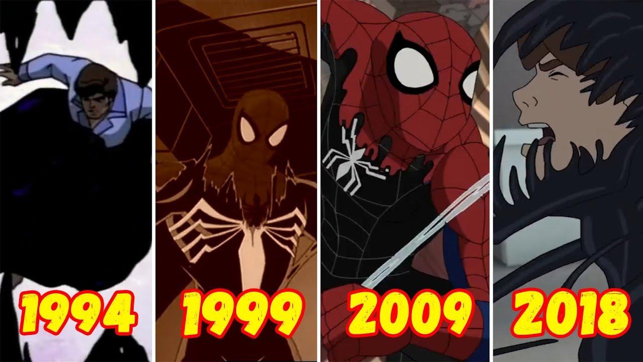 Эволюция Превращения Человека-Паука в Черного Человека-Паука (1994-2018)