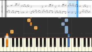 Bach Minuet in Bb BWV Anhang 118 from Anna Magdalena. Piano Tutorial by PianoToon.com