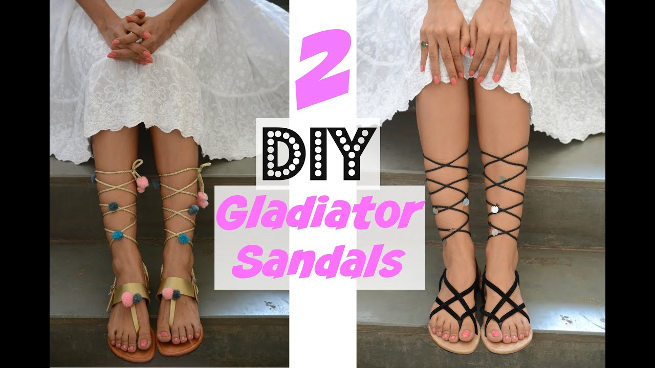 8fc81fec6c3d DIY Gladiator Sandals - YouTube
