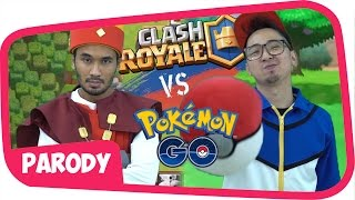 Download Video CLASH ROYALE vs POKEMON GO !! [ one minute rap battle ] MP3 3GP MP4