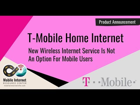 T-Mobile Announces Home Wireless Broadband Service - Is It Mobile Friendly?