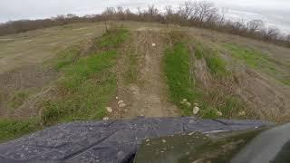 sortie quad  POLARIS 500 SPORTMAN test sur terrain de cross