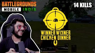 CARRY First Chicken Dinner In BGMI | Battalground Mobile India Highlights