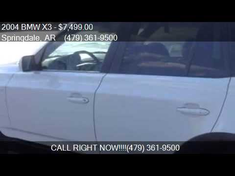 2004 BMW X3 3.0i for sale in Springdale, AR 72762 at Just Dr