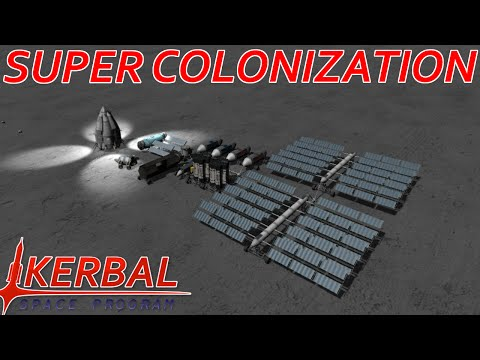 [16]  Minmus To Mun Crew Transfer | Modded KSP : Super Colonization