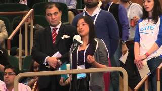 One Young World 2014ダブリン大会、日本代表者によるスピーチ。 セッシ...