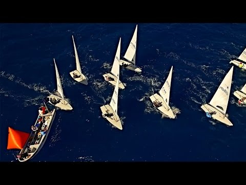 Laser Sailing Race - (Aerial Footage) 14th Caribbean Laser Midwinter Regatta
