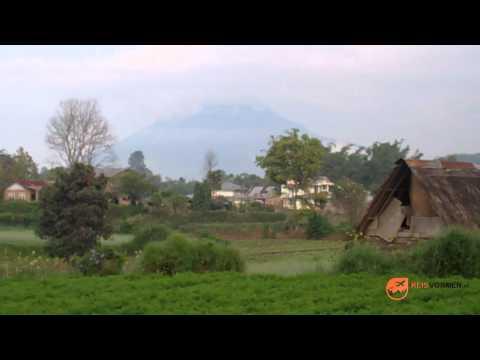 Sinabung Volcano in Sumatra