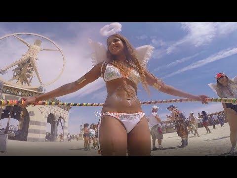 Burning Man 2016 Hula Hoop and Fire Cam
