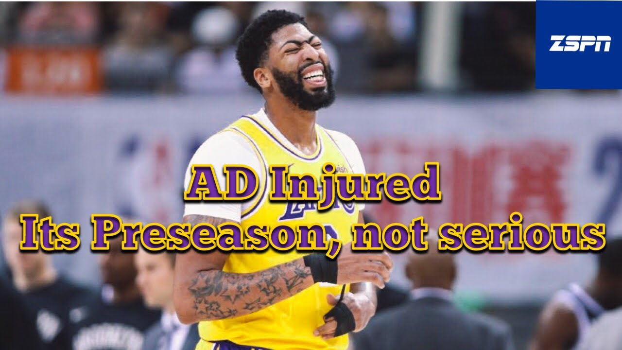 Lakers' Anthony Davis Suffers Sprained Thumb Injury in Preseason Game vs. Nets