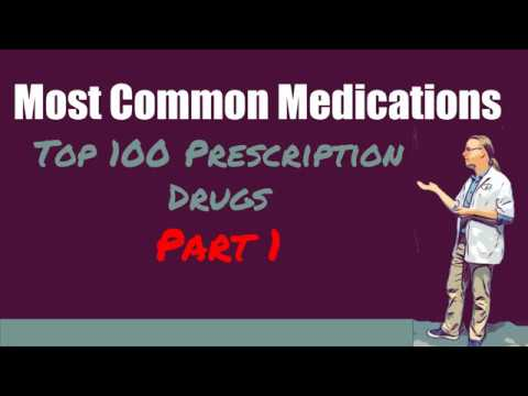 Top 100 Prescription Drugs | The Most Common Medications To Know Part 1