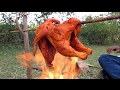 FULL CHICKEN Cooking in Fire Prepared By My Friends   VILLAGE FOOD