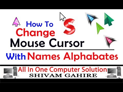 How To Change Mouse Cursor/Pointer Design With Your Names Alphabates