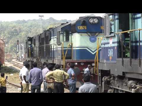 Braker/Helper Engines Being Attached To Train For Dangerous Ghat Section!!!