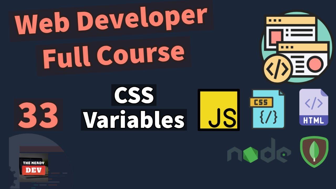Web Developer Full Course - CSS Variables