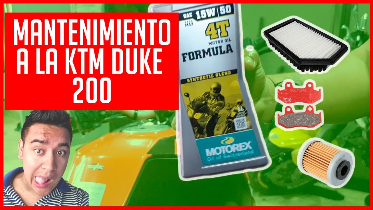 MANTENIMIENTO KTM DUKE 200 FACIL