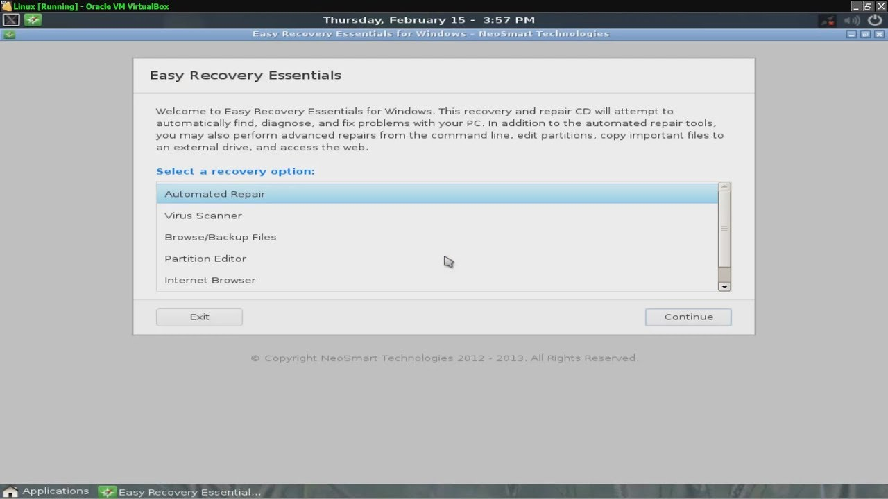 easy recovery essentials windows xp