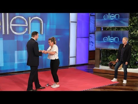 Ellen Sets Up a 'Blindfolded Musical Chairs' Surprise Proposal for a Big Fan!