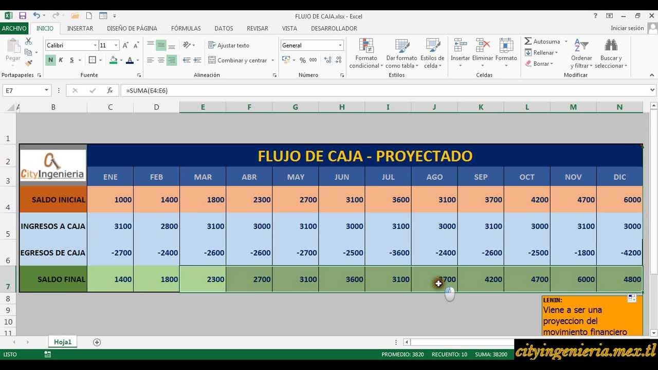 FLUJO DE CAJA PROYECTADO EN EXCEL - YouTube