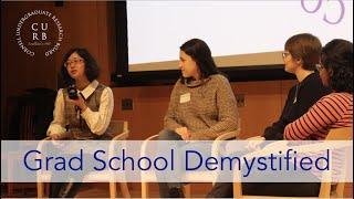 Grad School Panel 2020 (Webinar) | CURB