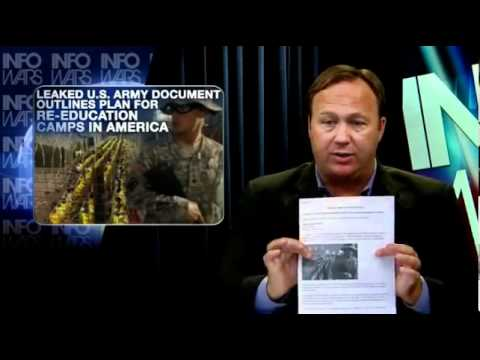 Martial Law Coming ∞ Leaked Document Re-Education Prison Camps for Anyone US army Ron Paul