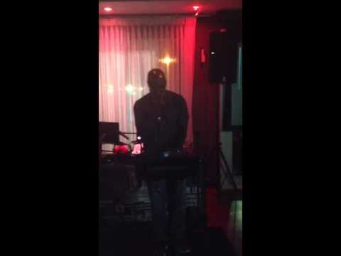 Peter Thomas, owner of Bar One, going at it during Wednesday Karaoke - Mama I Wanna Sing!