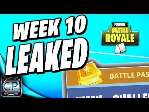 Fortnite WEEK 10 BATTLE PASS Challenges LEAKED!! Fortnite Battle Royale