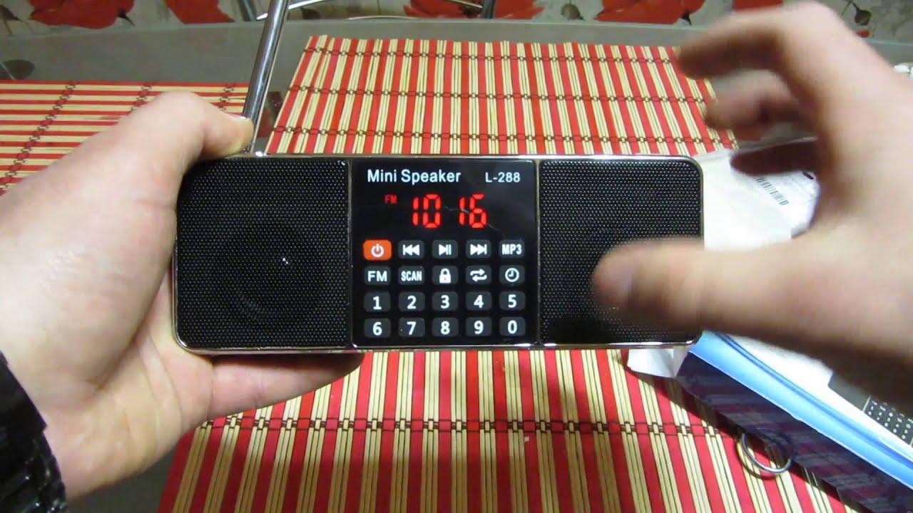 Musky HJ-91 - мини акустика, FM-радио, USB и SD. - YouTube