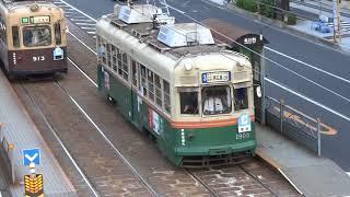 広島電鉄 1900形1903「舞妓」号 本川町電停付近にて 20171113