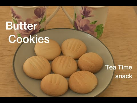 Butter Biscuits Recipe   Eggless Butter Cookies