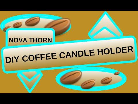 DIY COFFEE CANDLE HOLDER