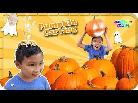 Pumpkin Carving Halloween Fun for KIDS!!!