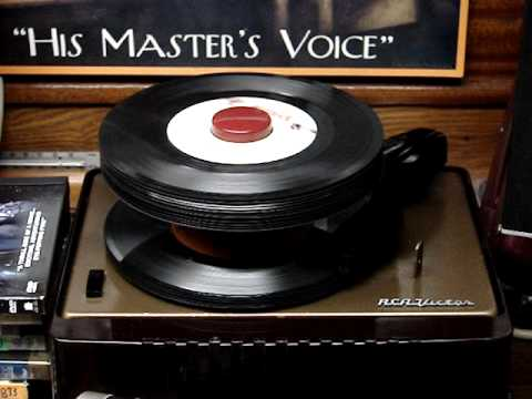 RCA 45 record player 1954  & Montage of 1950