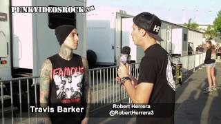 Travis Barker talks Blink 182 shows, ADTR and Demi Lovato w/ @RobertHerrera3